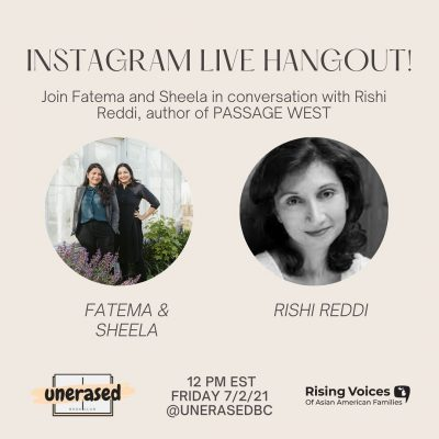 Join Fatema and Sheela in conversation with Rishi Reddi